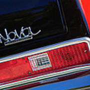 1972 Chevrolet Nova Ss Taillight Emblem -0355c Art Print