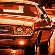 1972 Dodge Challenger In Orange Art Print