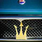 1972 Maserati Ghibli Grille - Hood Emblems Art Print