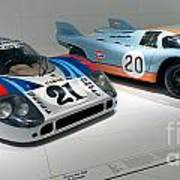 1972 Porsche 917 Lh Coupe And 1970 Porsche 917 Kh Coupe Art Print