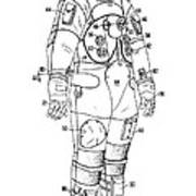 1973 Nasa Astronaut Space Suit Patent Art 3 Art Print