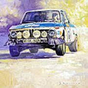 1973 Rallye Of Portugal Bmw 2002 Warmbold Davenport Art Print