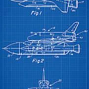 1975 Nasa Space Shuttle Patent Art 1 Art Print