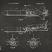 1975 Space Vehicle Patent - Gray Art Print