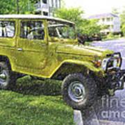 1976 Toyota Landcruiser Art Print