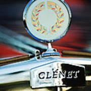1979 Clenet Hood Ornament -176c Art Print