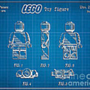 1979 Lego Minifigure Toy Patent Art 1 Art Print
