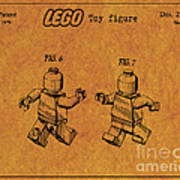 1979 Lego Minifigure Toy Patent Art 5 Art Print