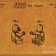 1979 Lego Minifigure Toy Patent Art 6 Art Print