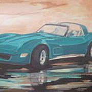 1980 Chevrolet Corvette/reflections Art Print