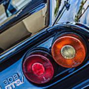 1980 Ferrari 308 Gtsi Taillight Emblem -0036c Art Print