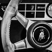 1982 Lamborghini Countach 5000s Steering Wheel Emblem -1549bw Art Print