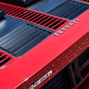 1984 Ferrari 512 Bbi By Pininfarina Rear Emblems -0822c Art Print