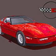 1986 Corvette Art Print