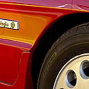 1988 Alfa Romeo Spider Quad Emblem Art Print by Jill Reger
