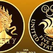 1988 Usa Olympic Gold Art Print