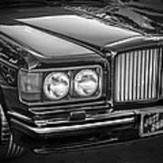 1990 Bentley Turbo R Bw Art Print