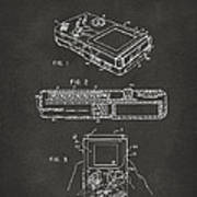 1993 Nintendo Game Boy Patent Artwork - Gray Art Print