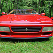 1993 Red Ferrari 512 Tr Art Print