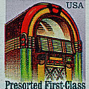 1995 Jukebox Stamp Art Print