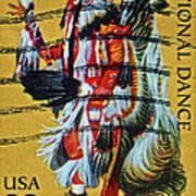 1996 Native American Stamp Art Print