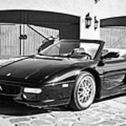 1997 Ferrari F 355 Spider -008bw Art Print