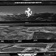 1997 Ferrari F 355 Spider Taillight Emblem -078bw Art Print