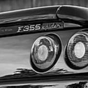 1997 Ferrari F 355 Spider Taillight Emblem -221bw Art Print