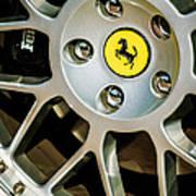 1997 Ferrari F 355 Spider Wheel Emblem -125c Art Print