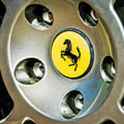 1997 Ferrari F 355 Spider Wheel Emblem -201c Art Print