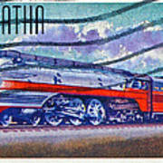 1999 Hiawatha Train Stamp Art Print