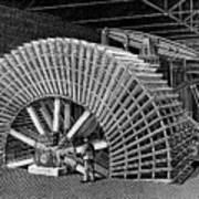 19th C Egyptian Hydraulic Factory Art Print