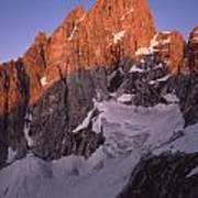1m9380-sunrise On The North Face Of Grand Teton Art Print