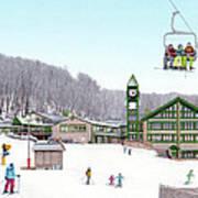 1st Snow At Hidden Valley Art Print