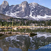 Cirque Of The Towers In Lonesome Lake 4 Art Print