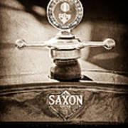 1915 Saxon Roadster Hood Ornament Art Print