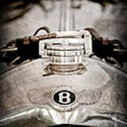 1925 Bentley 3-liter 100mph Supersports Brooklands Two-seater Radiator Cap Art Print