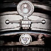 1928 Dodge Brothers Hood Ornament - Moto Meter Art Print
