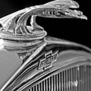 1931 Chevrolet Hood Ornament Art Print