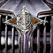 1933 Chrysler Sedan Grille Emblem Art Print
