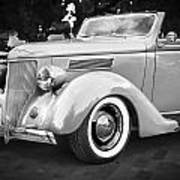 1936 Ford Cabriolet Bw  Art Print