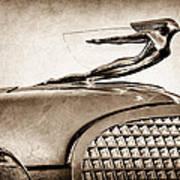 1937 Cadillac V8 Hood Ornament Art Print