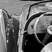 1937 Peugeot 402 Darl'mat Legere Speacial Sport Roadster Recreation Steering Wheel Emblem Art Print