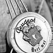 1937 Peugeot 402 Darl'mat Legere Special Sport Roadster Recreation Steering Wheel Emblem Art Print by Jill Reger