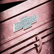 1938 Chevrolet Pickup Truck Emblem Art Print