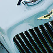 1939 Aston Martin 15-98 Abbey Coachworks Swb Sports Grille Emblem Art Print