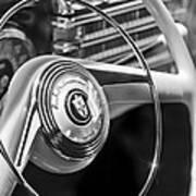 1942 Lincoln Continental Cabriolet Steering Wheel Emblem Art Print