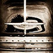 1954 Chevrolet Deluxe Grille Emblem Art Print