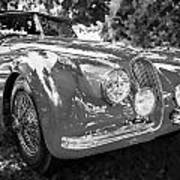 1954 Jaguar Xk 120 Se Ots  Bw Art Print