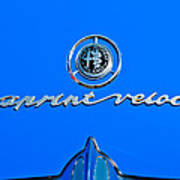 1956 Alfa Romeo Sprint Veloce Coupe Emblem Art Print